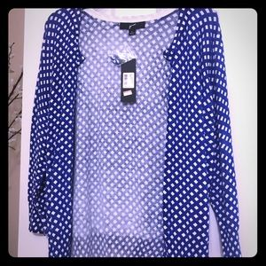 Blue and white cardigan !!! never worn!!!